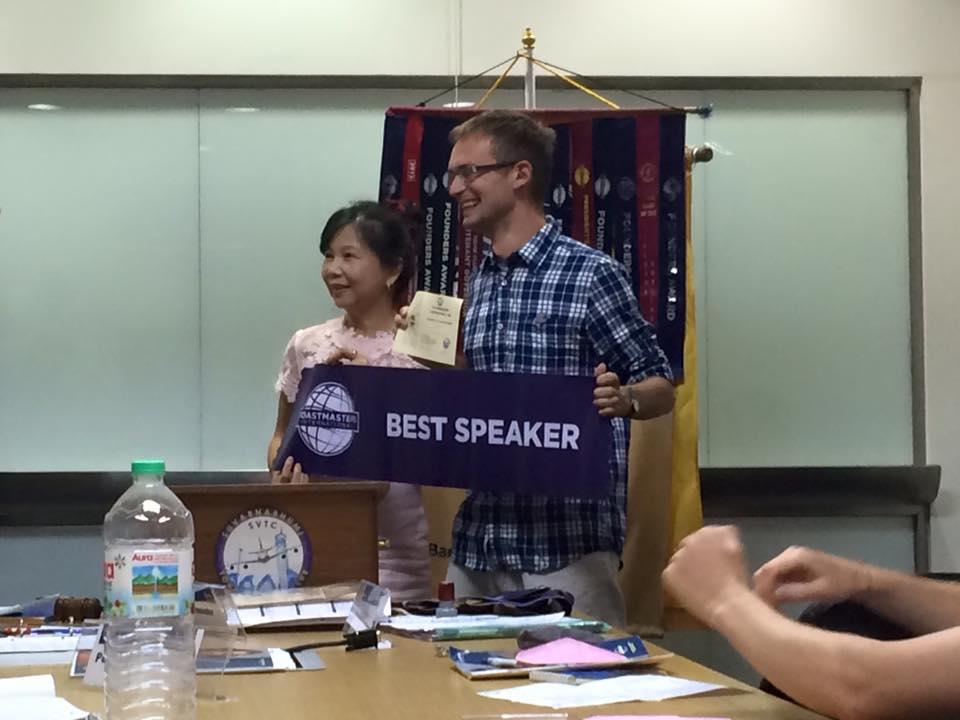 Best speaker z panią prezes:)