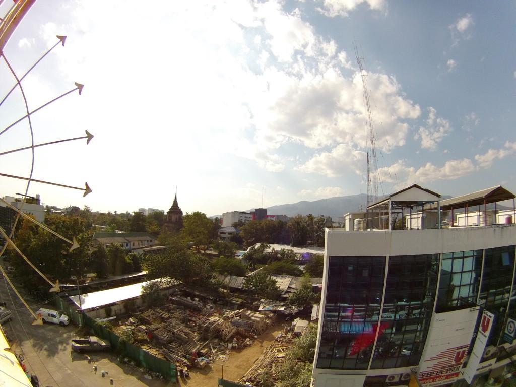 Widok z dachu hostelu